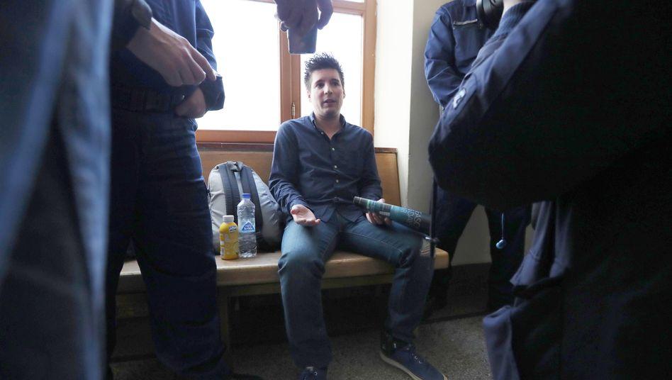 Rui Pinto im März 2019 in Budapest. Dort wurde der Football-Leaks-Informant verhaftet und an Portugal ausgeliefert