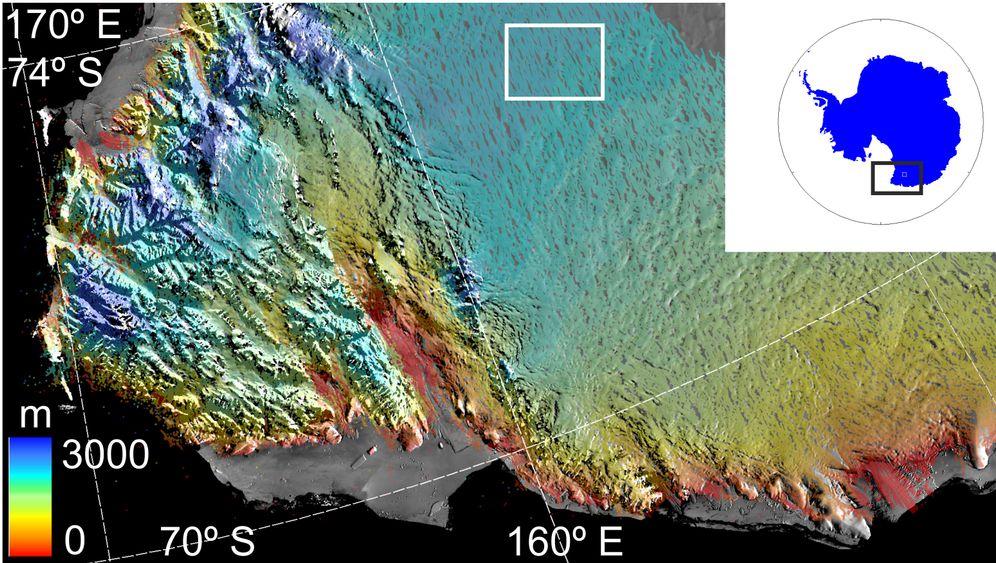 Verborgener See: Krater im Eis