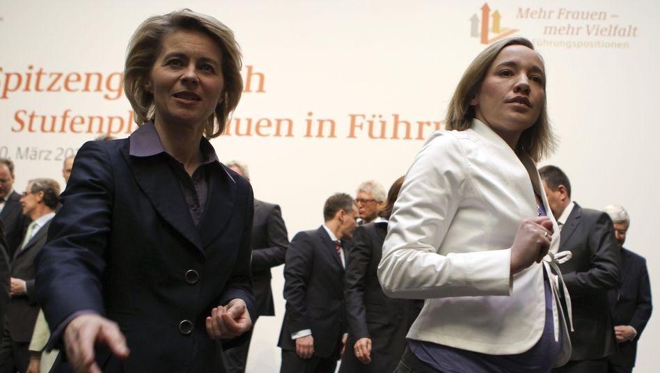 """CDU-Ministerinnen von der Leyen, Schröder: """"Die Wirtschaft muss nicht zustimmen"""""""