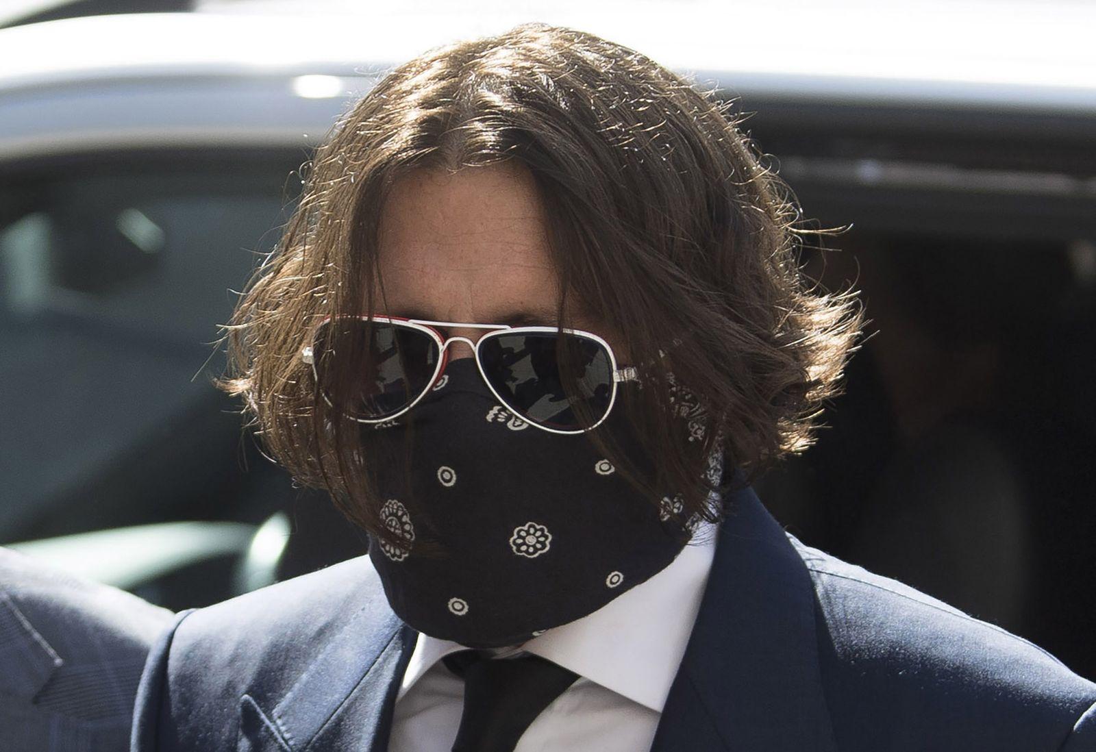 Johnn Depp Trial, London, United Kingdom - 07 Jul 2020