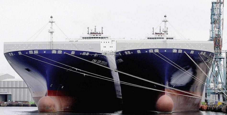 Bau von Containerschiffen im südkoreanischen Ulsan: »Das große Spiel ist vorbei«