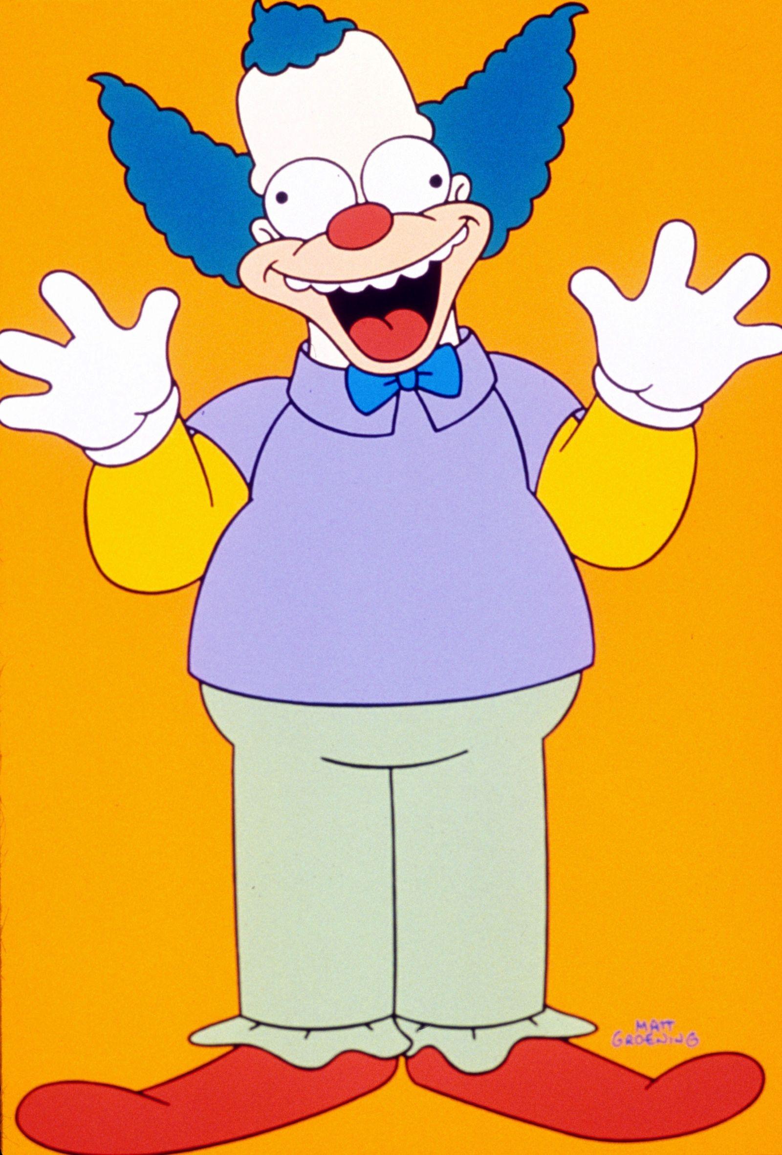 EINMALIGE VERWENDUNG Krusty der Clown/ The Simpsons