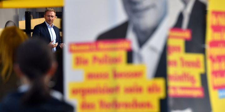 FDP-Chef Lindner in Jena (am 19. Oktober): Optimistisch, was den Wahlausgang angeht