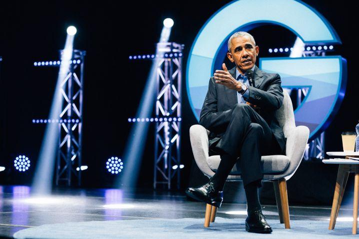 Obama auf der Bühne: Top-Act unter den Weltführern