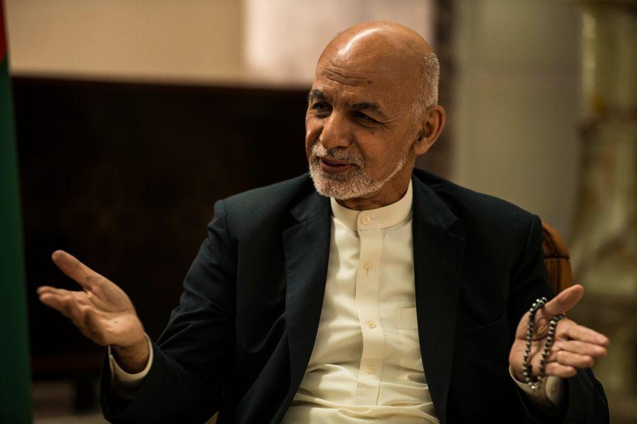 President Ghani during his DER SPIEGEL interview