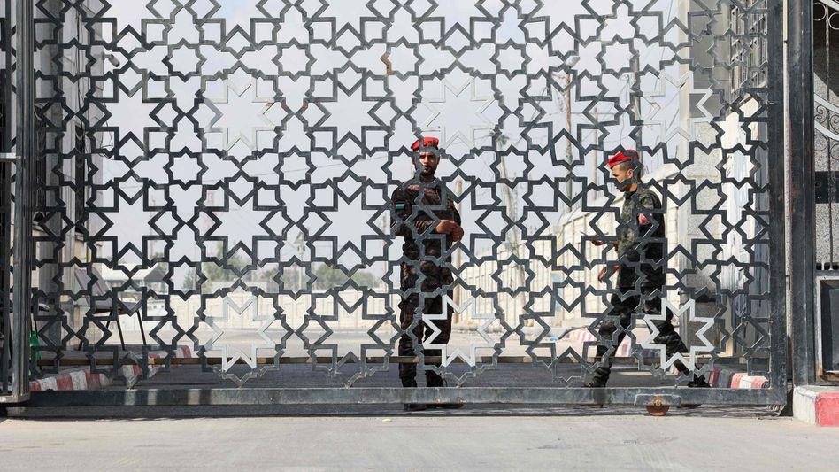 Noch geschlossen: Der Rafah-Grenzübergang zwischen Gaza und Ägypten