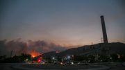 Flammen bedrohen türkisches Kohlekraftwerk