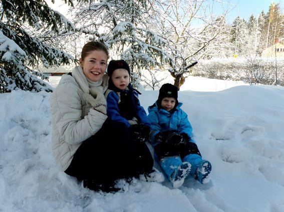 Petra, 37, lebt mit ihrem Mann und den Söhnen Oula, 5, und Elias, 2, nördlich von Helsinki