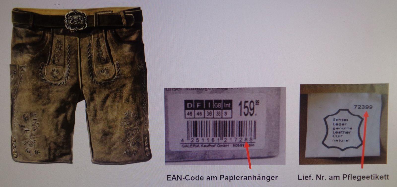 EINMALIGE VERWENDUNG Original Stockerpoint Lederhosen