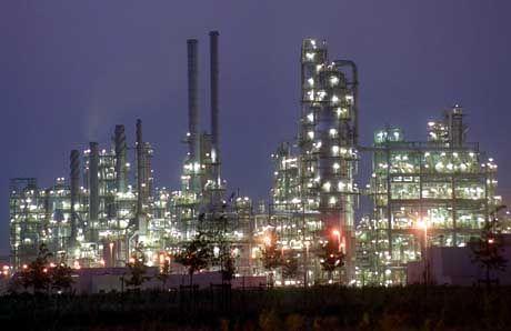 Die Leuna-Raffinerie in Sachsen-Anhalt