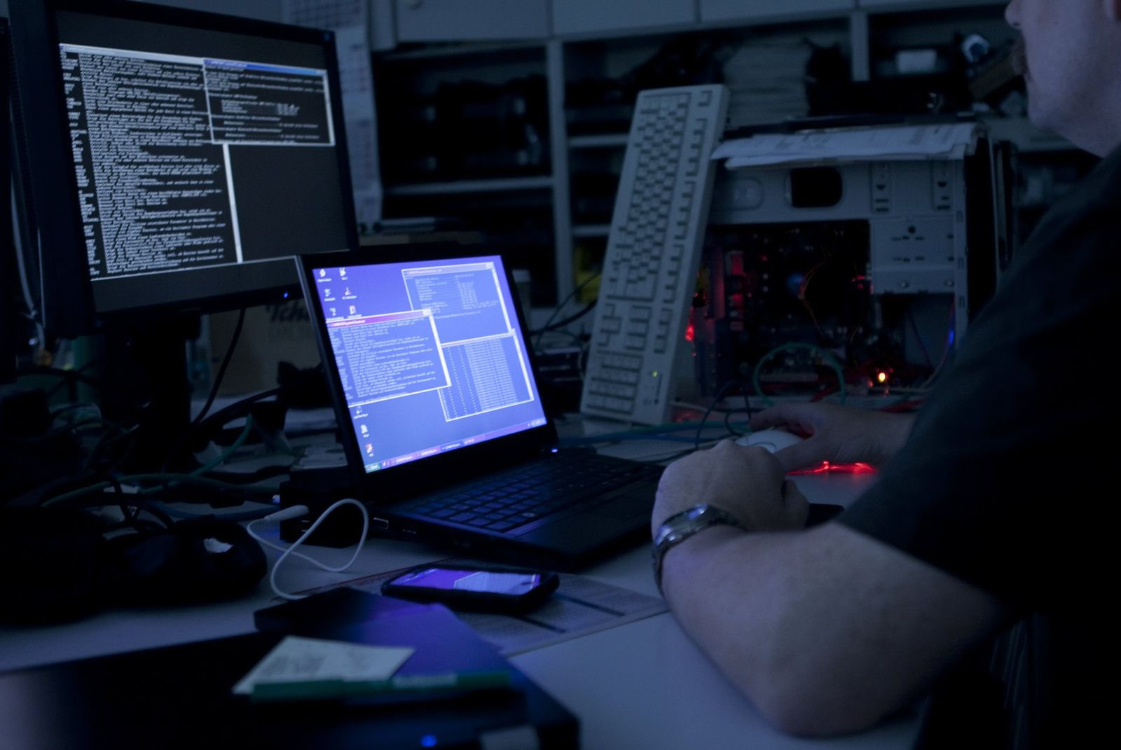 Hacker Angriff / Cyber