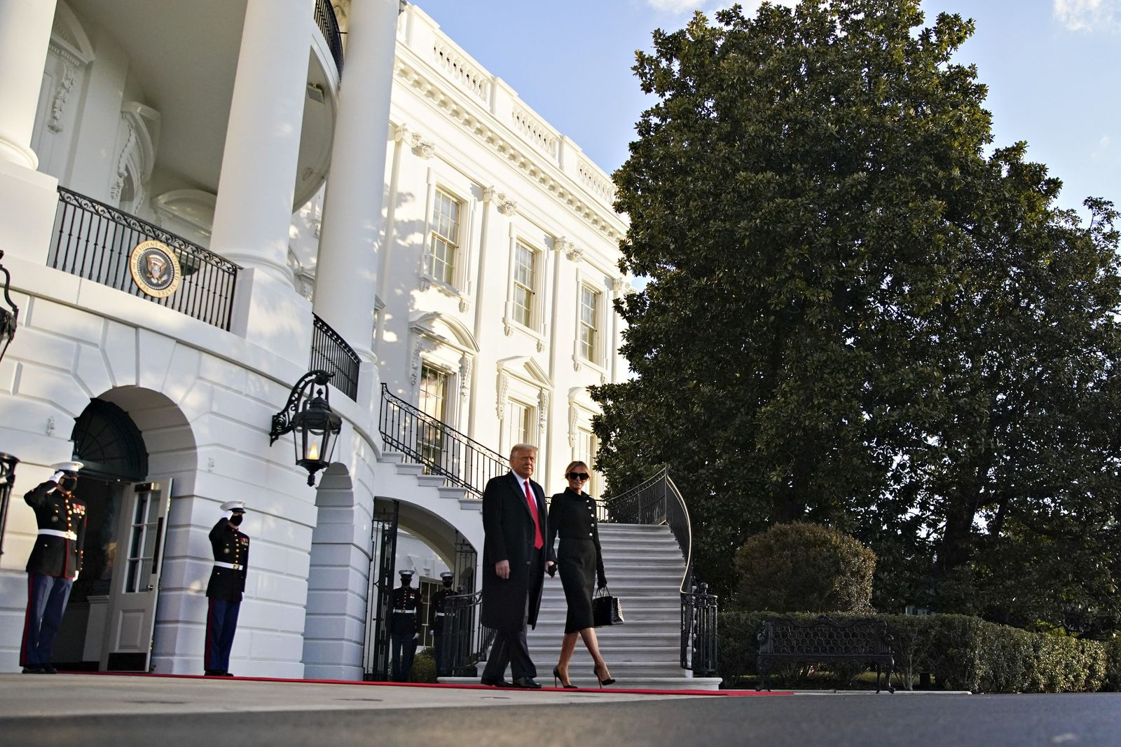 Trump leaves White House, Washington, USA - 20 Jan 2021