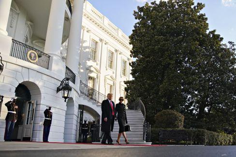 Donald Trump verlässt zum letzten Mal als Präsident das Weiße Haus