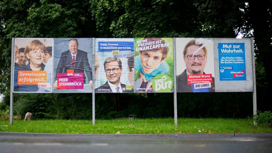 Wahlplakate der Parteien: Wer will was?