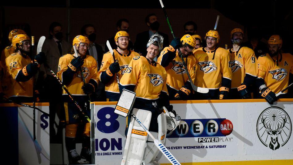 NHL-Team der Nashville Predators (im Mai 2021, noch ohne Luke Prokop im Aufgebot)