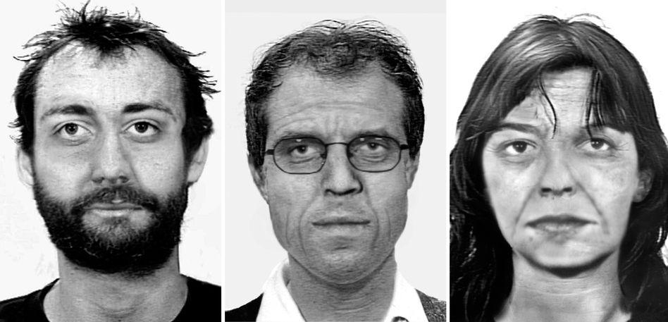 Burkhard Garweg, Ernst-Volker Wilhelm Staub, Daniela Klette (Alterssimulation des BKA)