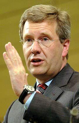 Ministerpräsident Wulff: Überzeugt von der Rechtmäßigkeit des VW-Gesetzes