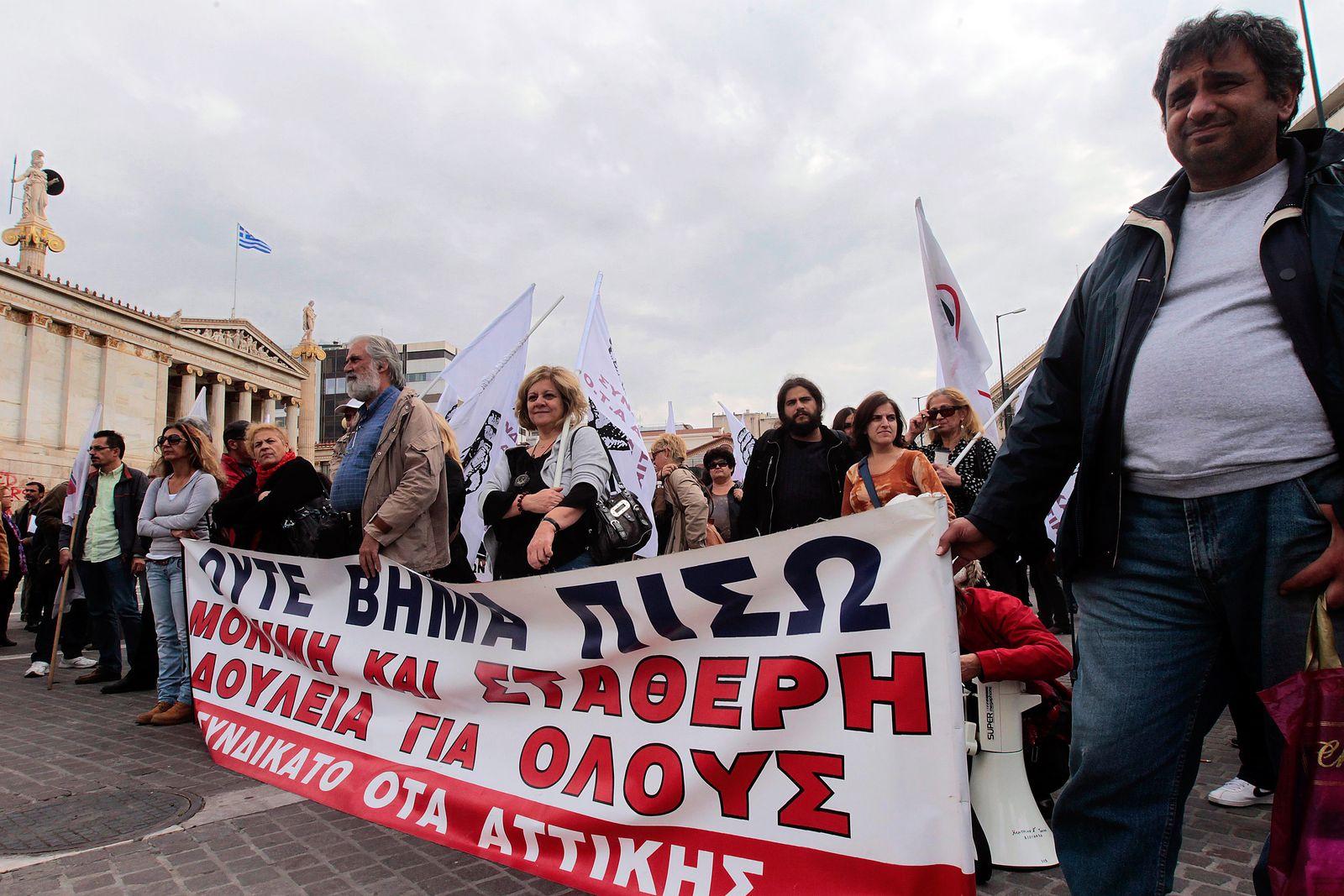 Griechenland / Protest gegen Troika