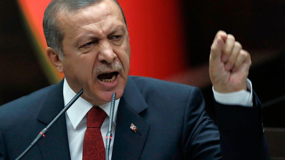 """Türkischer Regierungschef Erdogan: """"Wie können Sie so unverschämt sein?"""""""