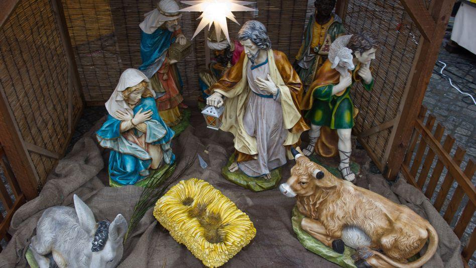 Krippe in Greifswald: Weihnachtsmarkt ohne Christkind