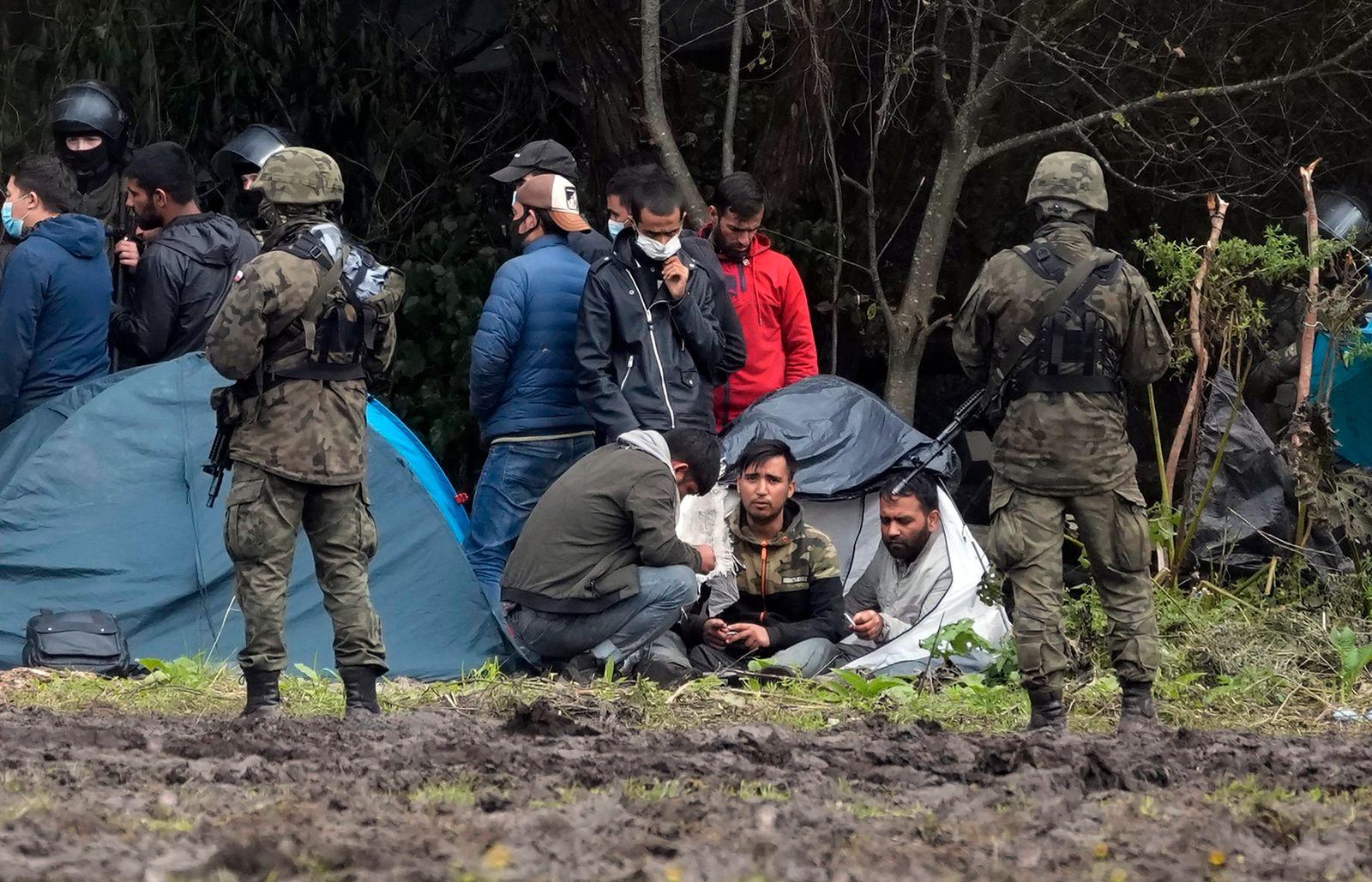 Polen - Migranten reisen illegal über Belarus in die EU ein