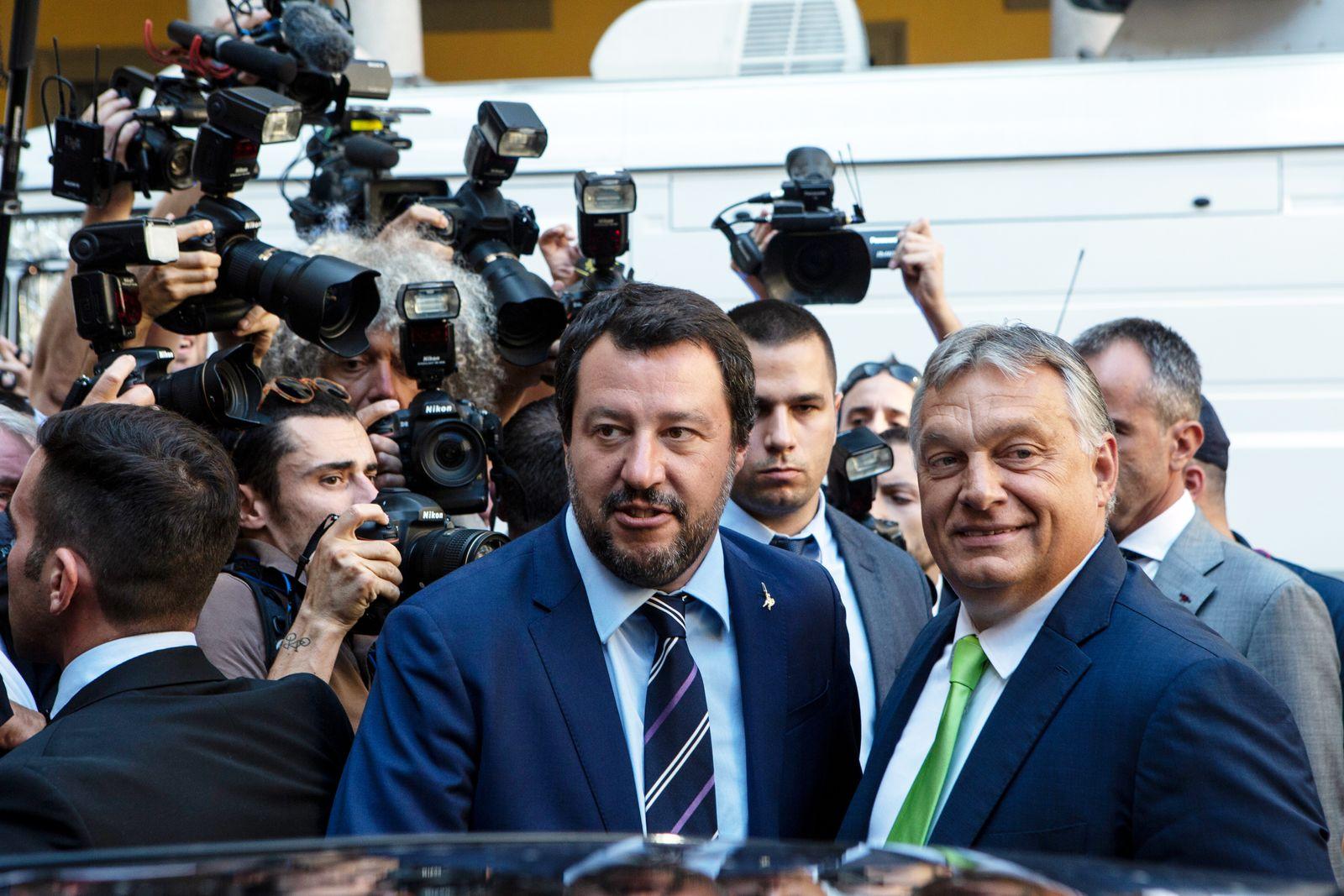 EINMALIGE VERWENDUNG Salvini / Orban
