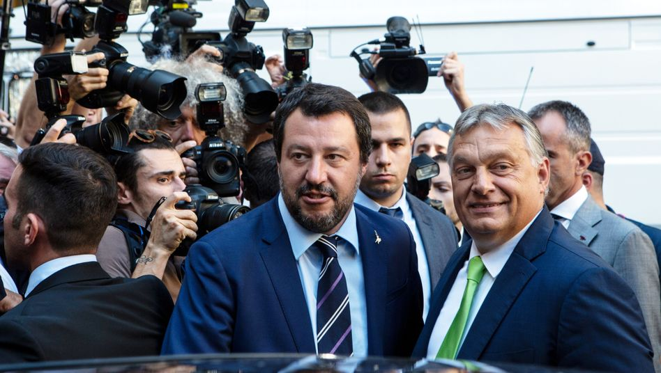 Matteo Salvini (links), Viktor Orban