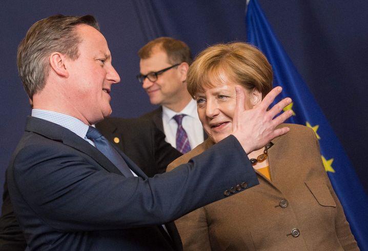 Cameron und Merkel beim EU-Gipfel: Bisher keine Einigung in Sicht