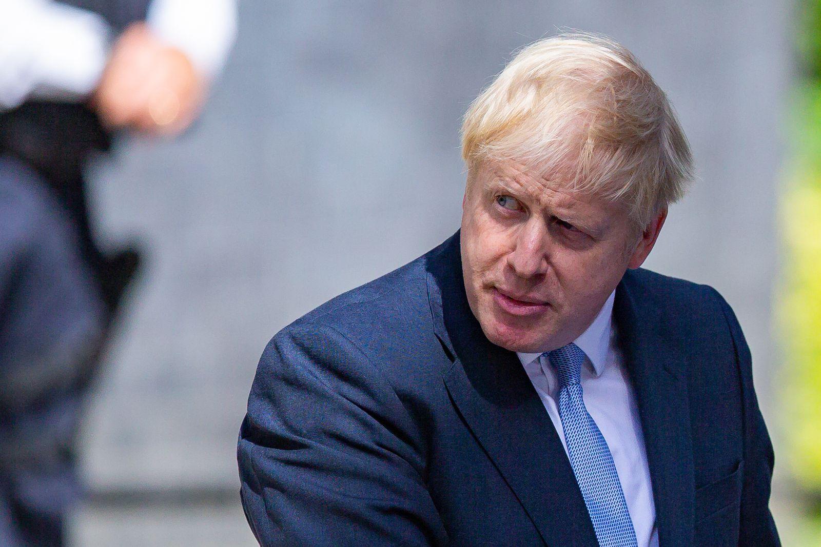 EINMALIGE VERWENDUNG Boris Johnson
