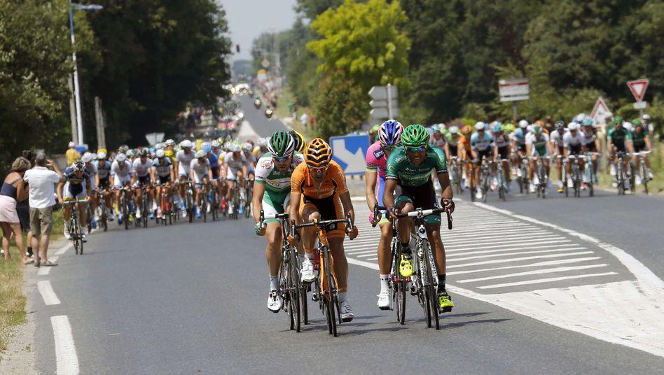 Rollen auch durch die Wikipedia-Statistik: Radprofis bei der Tour de France