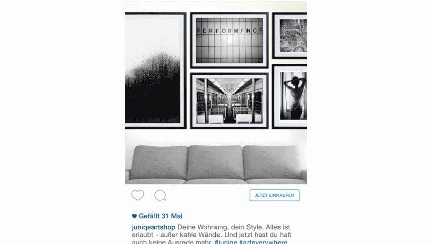 Werbung auf Instagram: Diskreter Mix mit Inhalten