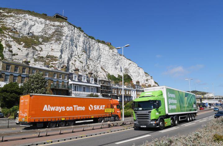 Lkw-Verkehr in Dover