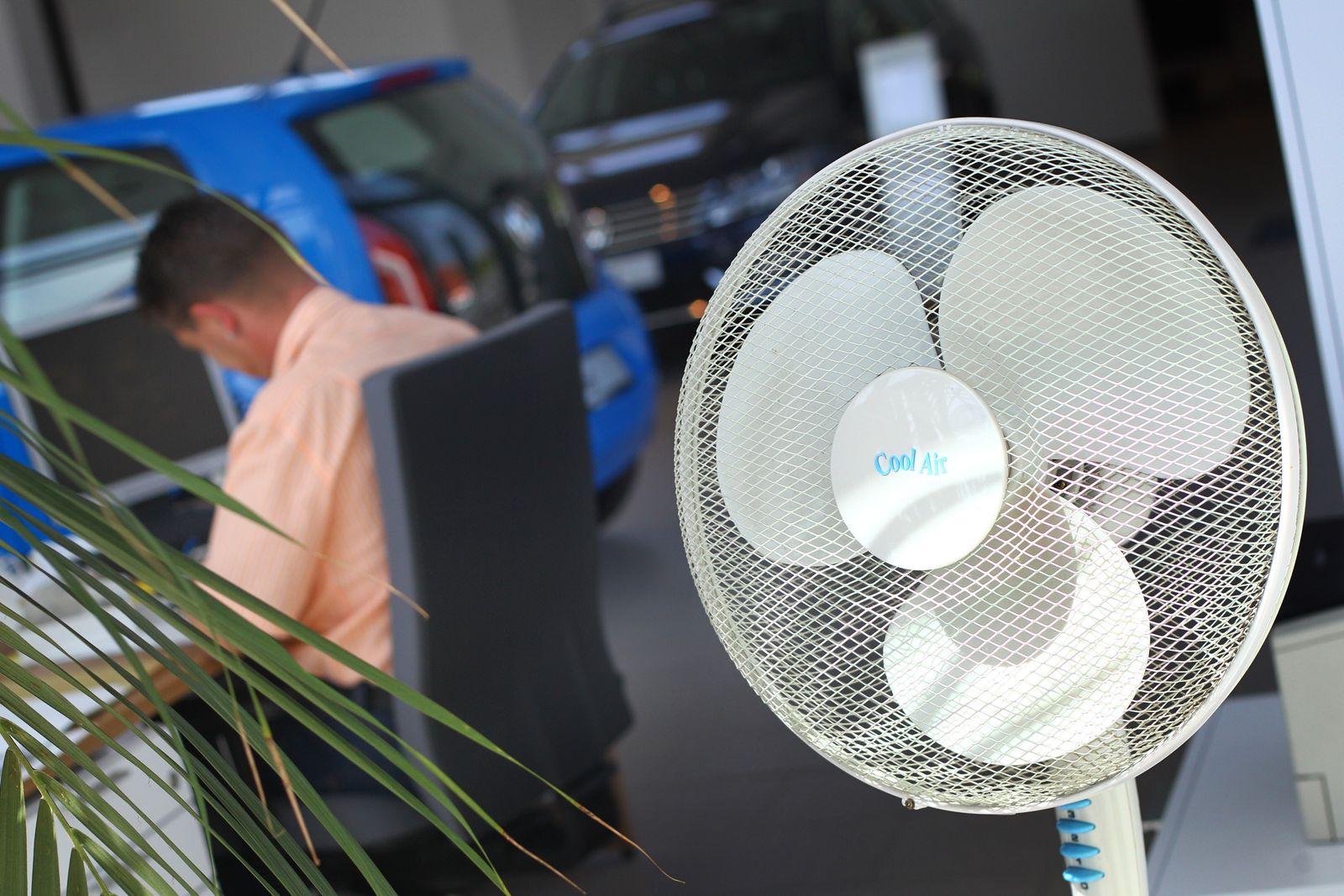 Ventilator am Arbeitsplatz