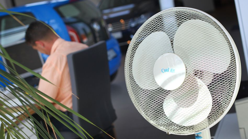 Nicht überall Standard: Ventilator im Büro
