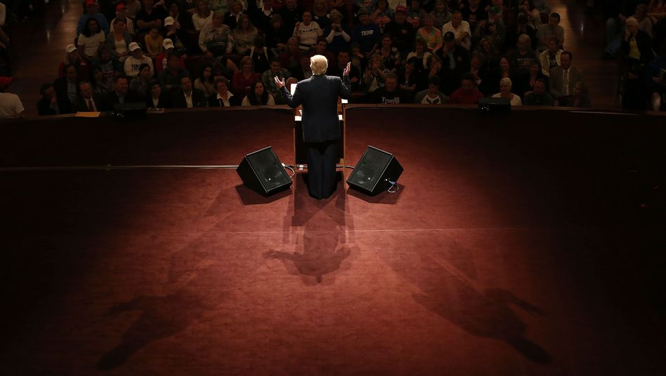 Presumed Republican Party presidential candidate Donald Trump in Indiana