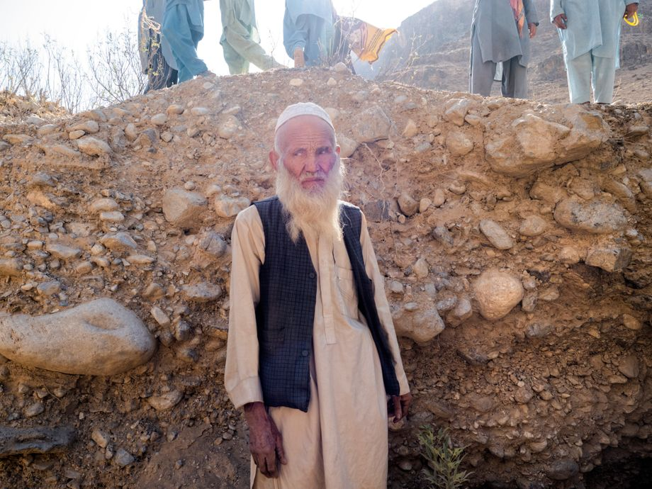 """Mohammed Sufi, a village elder from Dahan-i-Nala: """"Two people have laid claim to our land."""""""