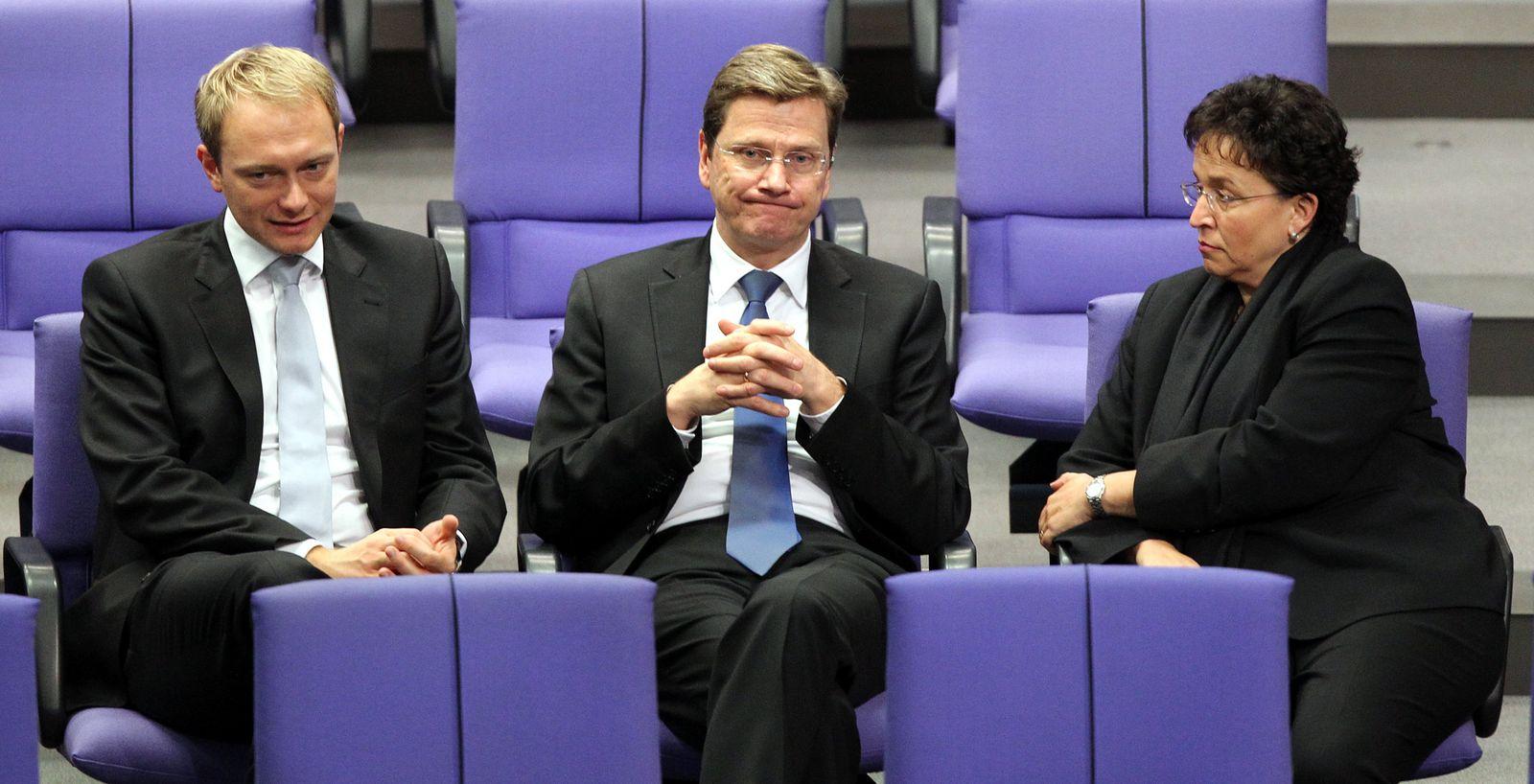 Bundestag - Westerwelle Lindner Homburger