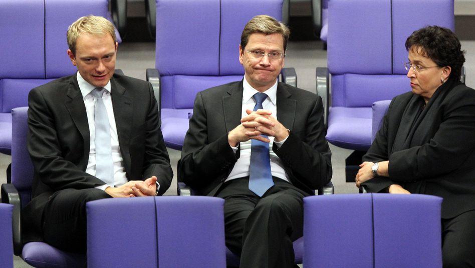 FDP-Politiker Lindner, Westerwelle, Homburger: Absturz bei den Wählern