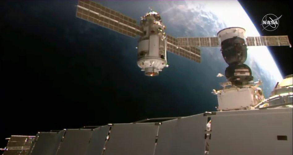 Nauka-Modul an der ISS: Masse von 22 Tonnen
