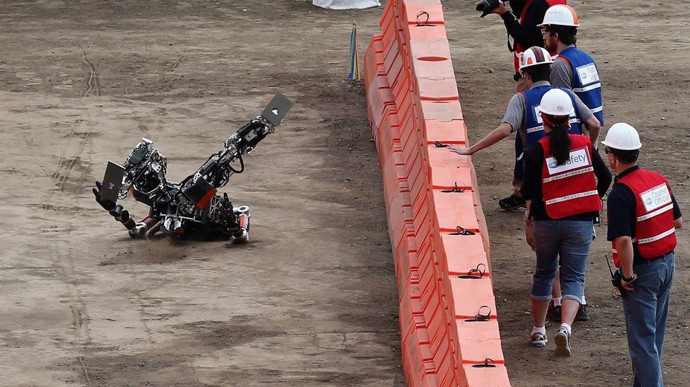 Darpa Robotics Challenge: Hier fallen die Roboter hin