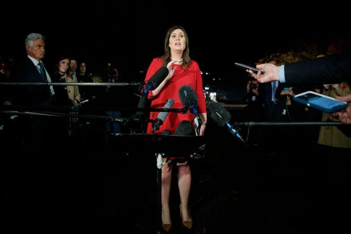 Pressesprecherin Sarah Huckabee Sanders