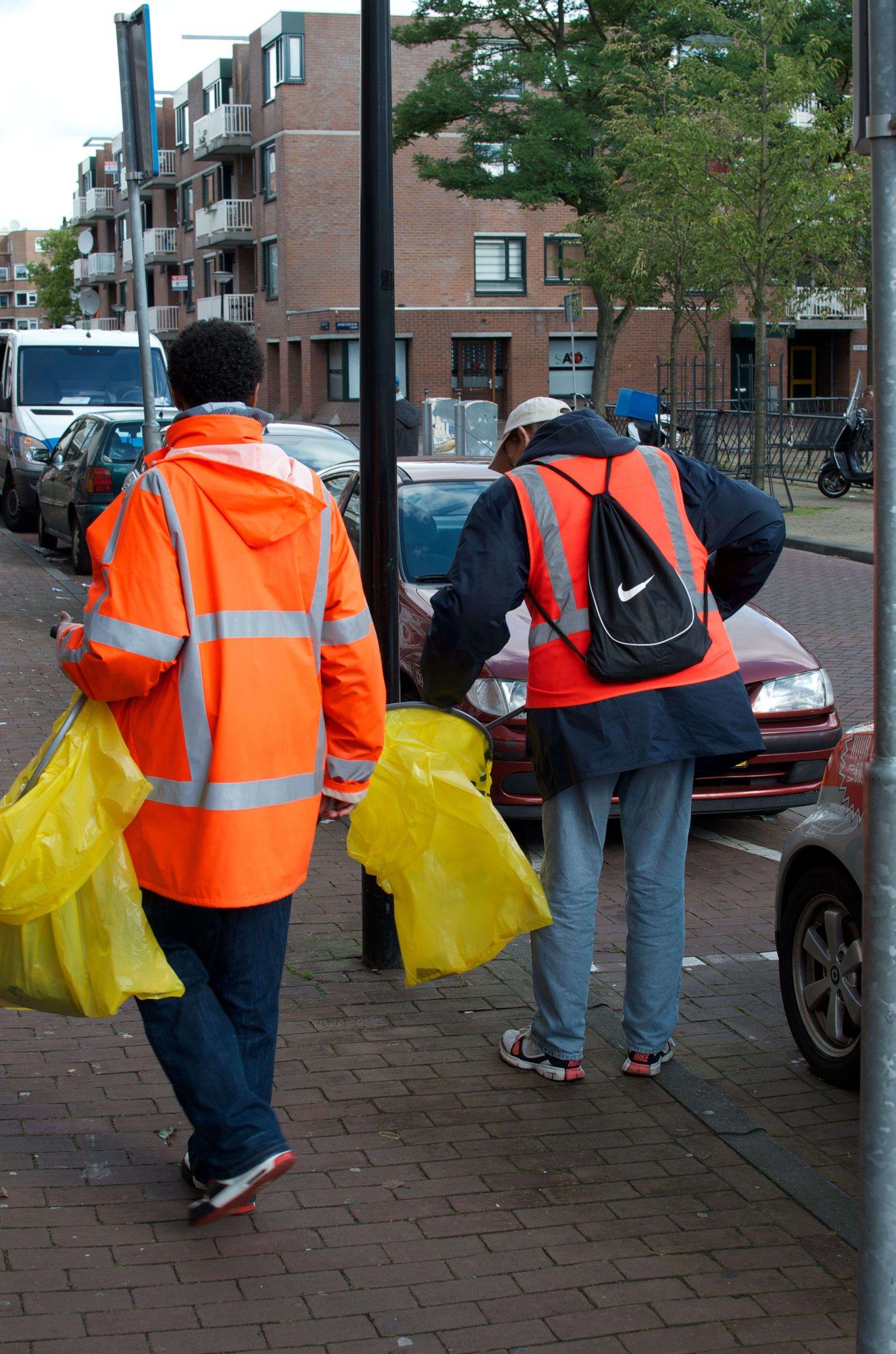 Amsterdam/ Straßenreinigung/ Alkohol