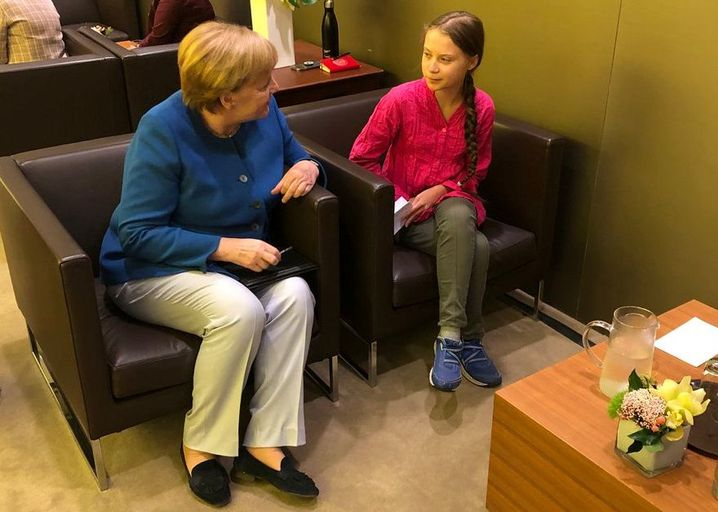 Merkel, Greta Thunberg