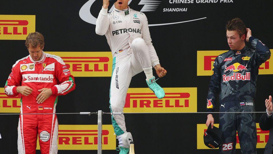 Nico Rosberg (Mitte)