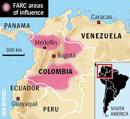 FARC still controls vast areas of Colombia.