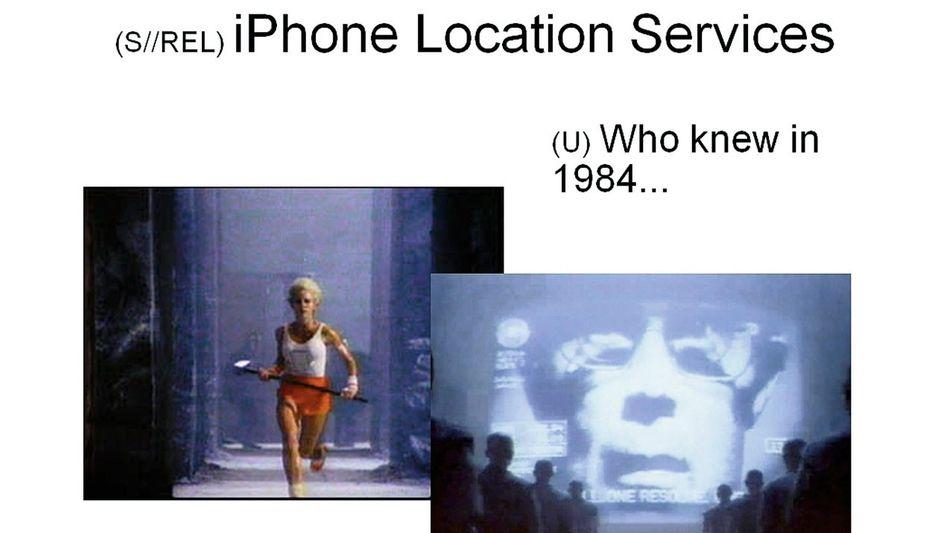 """Interne Folien aus einer als »streng geheim« eingestuften NSA-Präsentation mit dem Titel »Hat Ihr Ziel ein Smartphone?""""(*)"""