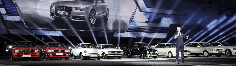 Audi-Vorstandsvorsitzender Stadler bei einer Präsentation in Ingolstadt: »Alle Investitionen kommen auf den Prüfstand«
