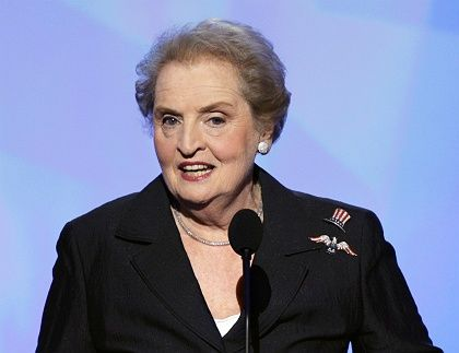 Madeleine Albright was Secretary of State under President Bill Clinton and played a major role in the expansion of NATO.
