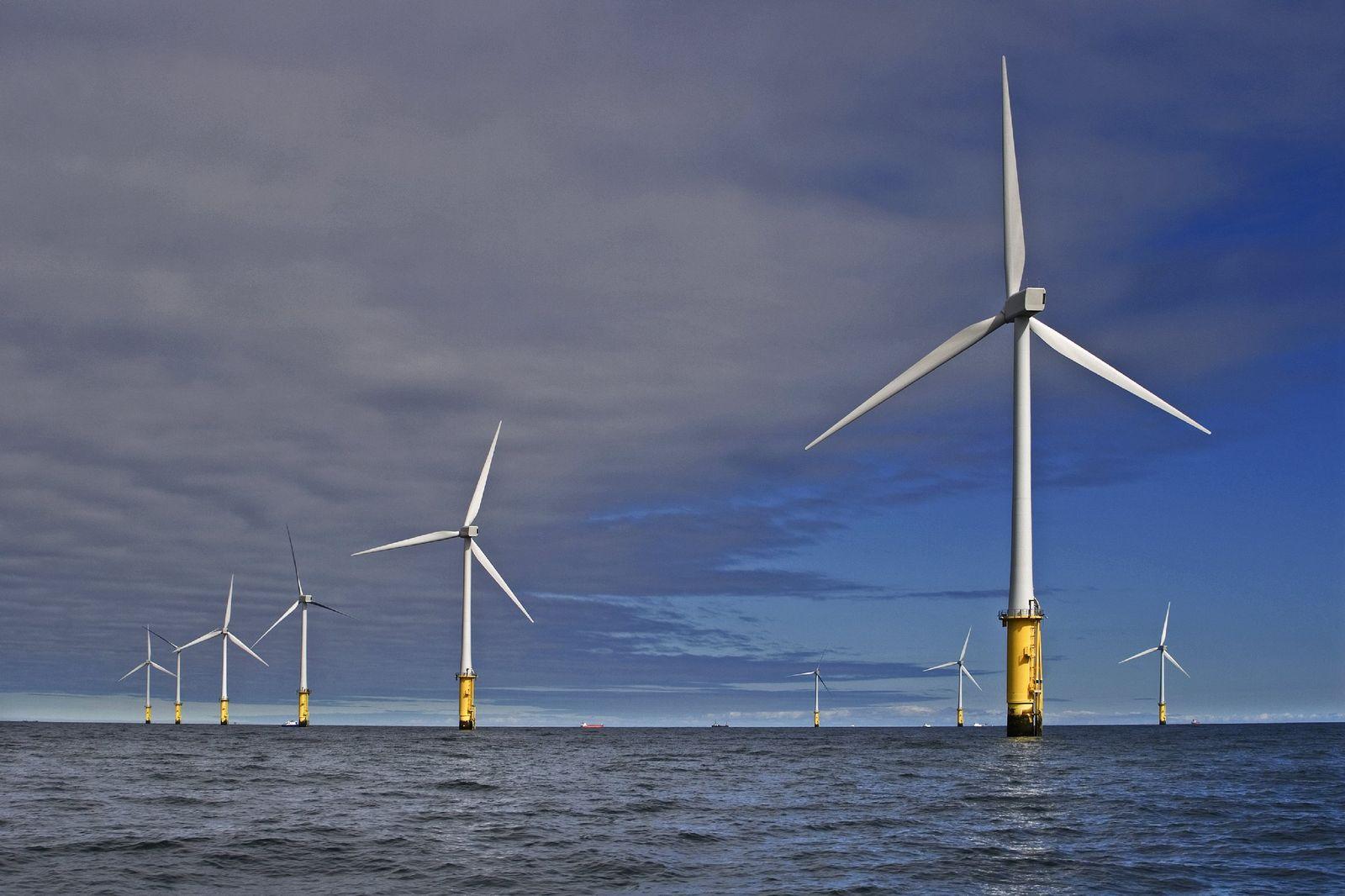 Offshore-Windpark RWE Innogy Windpark vor der Küste von Nordwales