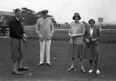 Golferinnen im schottischen Gullane Golf Club, 1930